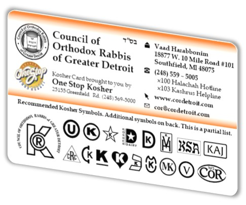 Council Of Orthodox Rabbis Of Greater Detroit 2017 Recommended